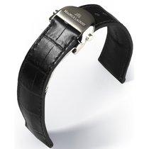 Maurice Lacroix Le Classic Lederband schwarz 20mm mit Schliess...