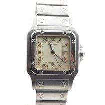 Cartier Santos Herren Uhr Quartz Stahl/stahl Schöner Zustand...