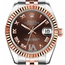 Rolex Unworn 178271 Datejust Mid Size in Steel and Rose Gold...