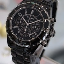Chanel - J12 41mm Chronograph Black Ceramic H0940