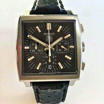 TAG Heuer Monaco Chronograph Black DIal Ref CW2111
