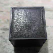 Zenith vintage watch box cube leather black nos
