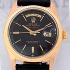 Rolex Daydate 18K massiv Roségold Day-Date Vintage black Dial rar