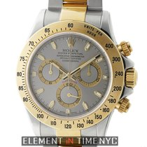 Rolex Daytona Stainless Steel & 18k Yellow Gold Grey Dial...