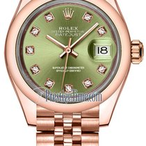 Rolex Lady Datejust 28mm Everose Gold 279165 Olive Green...