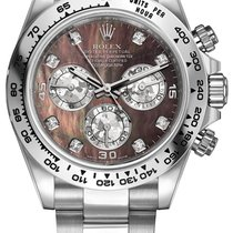 Rolex Cosmograph Daytona White Gold 116509 Black MOP Gold...