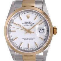 Rolex Datejust Men's 2-Tone Watch 16203 White Dial