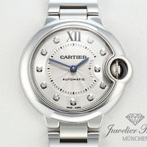 Cartier Ballon Bleu Medium 33 mm Edelstahl Diamanten Automatik