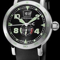 Chronoswiss Timemaster Big Date Steel-Black Green 44mm CH35631