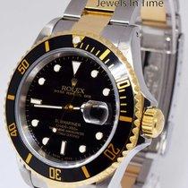 Rolex Submariner Date 18k Yellow Gold & Steel Dive Watch...