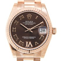 Rolex Lady Datejust 18k Rose Gold Brown Automatic 178275BEVIDIA