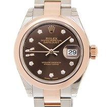 勞力士 (Rolex) Lady Datejust 18k Rose Gold And Steel Dark Brown...