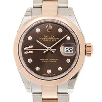 勞力士 (Rolex) Lady Datejust 18k Rose Gold And Steel Dark Brown...