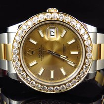 Rolex Mens New 41 MM 116333 Rolex Date Just II 2 With Two Tone...