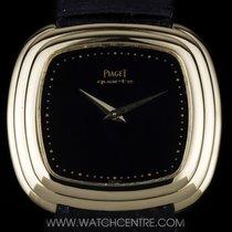 Piaget 18k Yellow Gold Black Onyx Dial Quartz B&P 75121