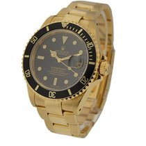 Rolex Used 16618 Submariner All Gold - 16618 - Yellow Gold...