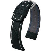 Hirsch Uhrenarmband Leder Carbon schwarz XL 02592250-2-22 22mm