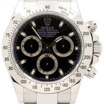 Rolex Cosmograph Daytona 116520 Black Index Stainless Steel...