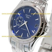 Zenith ELITE  GMT  Small Second  Blue Dial 39mm 09020030682