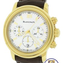 Blancpain Leman Chronograph 2185-1418-53 White 38mm 18K Yellow...