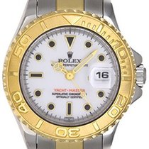 Rolex Ladies Yacht - Master 2-Tone Watch 69623 White Dial...