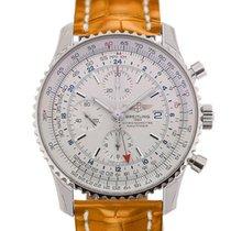 Breitling Navitimer World 46 Chronograph Silver Dial Light...
