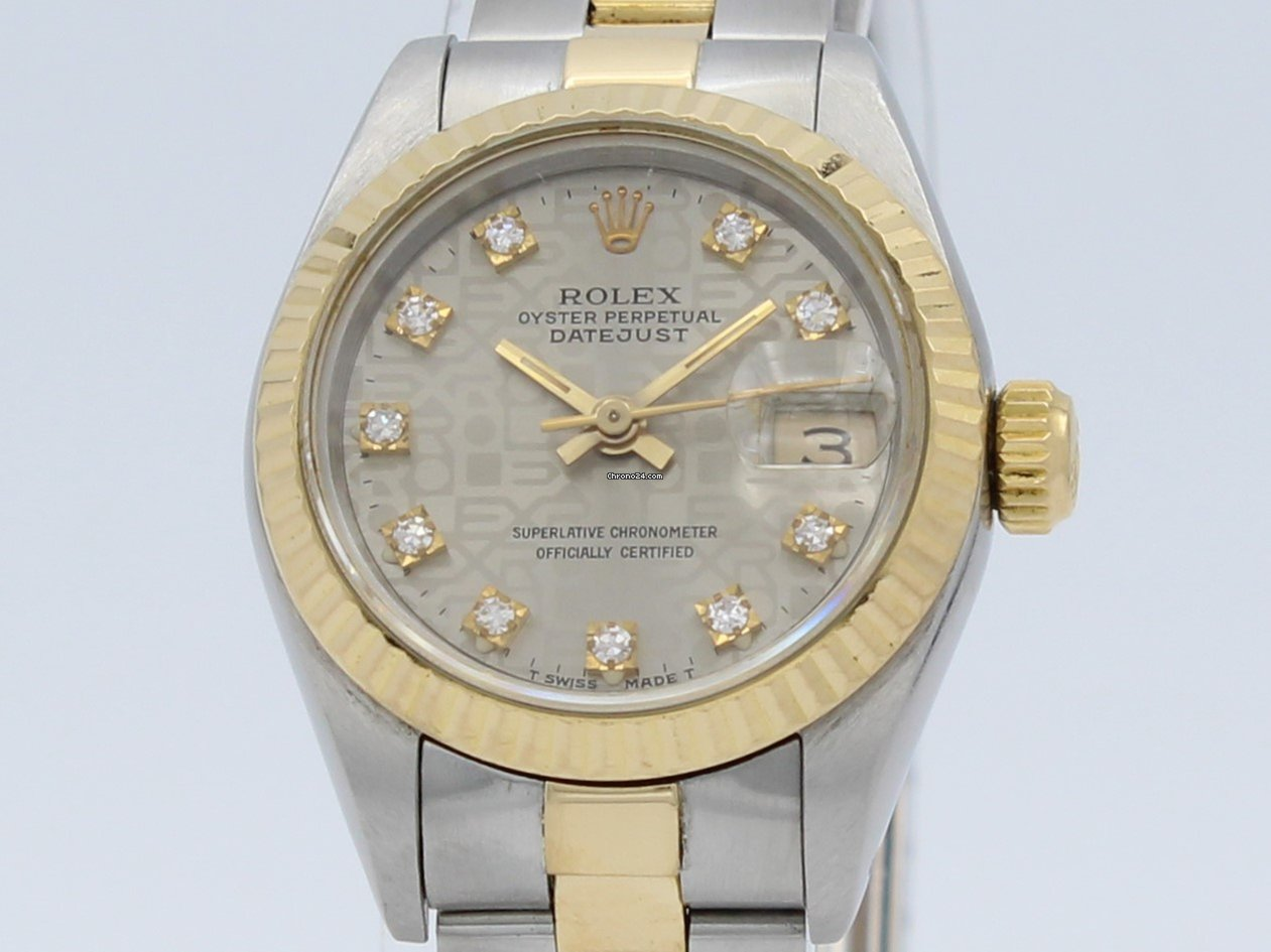 46eee8673d0 Rolex Oyster Perpetual Datejust Automatic Steel-Gold Lady 69173 por 3.200 €  para vender por um Seller na Chrono24