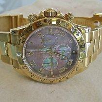 Rolex Daytona Yellow Gold Black MOP Dial 116528