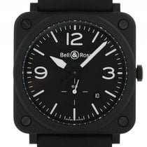 Bell & Ross Aviation BR S Black Matte Keramik Kautschuk...
