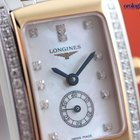 Longines Ladies DolceVita Quartz Steel and Pink Gold Diamond...