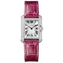 까르띠에 (Cartier) Tank Anglaise Quartz Ladies Watch Ref WT100015