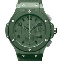 Χίμπλοτ (Hublot) Big Bang Chronograph Green Dial Green Ceramic...