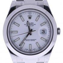 Rolex Datejust Ii 116300wso 41 Mm White Dial