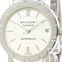 Bulgari Polished  - Platinum Pt950 Quartz Watch Bb33pl (bf301694)