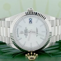 Rolex President Day-Date 40 Original Silver Motif Dial White Gold