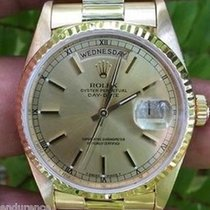 Rolex President Mens 18k Yellow Gold Champagne Dial 18038 100%...