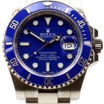 Rolex Submariner 116619 Blue Ceramic 18k White Gold 40mm -