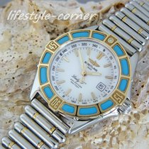 "Breitling Damenuhr Lady J"" mit Rouleauxband (Stahl / Gold)"