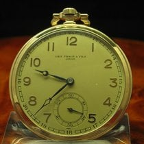 天梭 (Tissot) & Fils Locle 14kt 585 Gold Open Face Taschenuhr