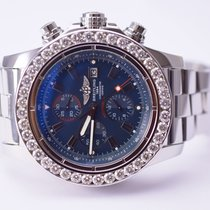 Breitling Super Avenger II 48mm Stainless Steel Custom Diamond...