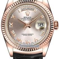 Rolex Day-Date 36mm Everose Gold Fluted Bezel 118135 Pink...
