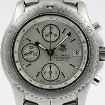 """TAG Heuer """"Link Chronograph Automatic"""" Brushed steel..."""