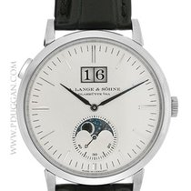 A. Lange & Söhne 18k White Gold Saxonia Moonphase