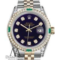 Rolex Ladies Rolex  Steel And 18k-gold 26mm Datejust Purple...