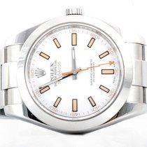 ロレックス (Rolex) Mens 116400 Milgauss - White Dial - Oyster Band...