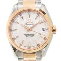 歐米茄 (Omega) Seamaster 18k Rose Gold And Steel Silvery White...