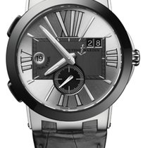 Ulysse Nardin EXECUTIVE DUAL TIME Steel And Ceramic Case, Dial...