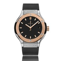 Hublot Classic Fusion Rose Gold & Titanium Ladies Quartz...