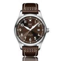 IWC Pilot Automatic Stainless Steel Brown Dial Mens Watch...