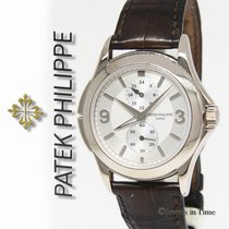 Patek Philippe 5134 Travel Time 18k White Gold Mens Manual...